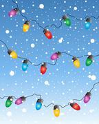 Fairy lights Stock Illustration