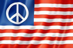 United states peace flag Stock Illustration