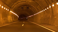Lonely road tunnel Stock Footage