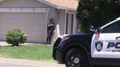 Police Action, gun drawn pistol Stock Footage
