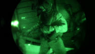 Stock Video Footage of Parachute Nighttime Operations 03 - Jump
