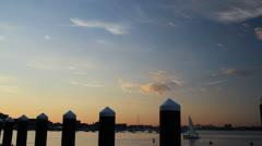Boston seaside Stock Footage