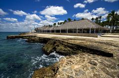 republica dominicana coastline - stock photo