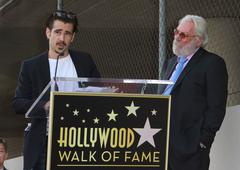donald sutherland star ceremony on hollywood walk of fame - stock photo