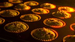 Muffin cupcake timelapse Stock Footage