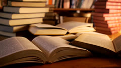 Books in a library Stock Footage