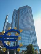 european central bank in frankfurt - stock photo