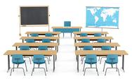Stock Illustration of empty classroom