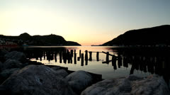 Old Wharf St. John's Newfoundland Harbour at Sunrise Stock Footage