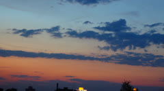 Sunset. sky and clouds timelapse - stock footage