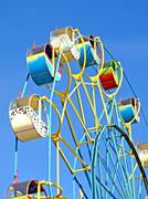 colorful carousel. - stock photo