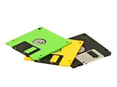 floppy disk.isolated. - stock photo