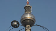 Stock Video Footage of Look at the top of the television tower in Berlin