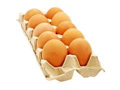 dozen eggs.isolated. - stock photo
