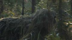 Military, Snipers Moving in Ghillie Suit Stock Footage