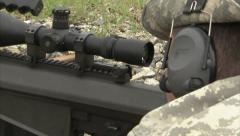 Military, Sniper 50 caliber training. Stock Footage
