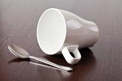 Coffe cup on table Stock Photos