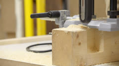 Carpenter workshop - router Stock Footage