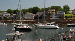 Boats in the Harbor Stock Footage