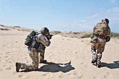 Soldier rush Stock Photos