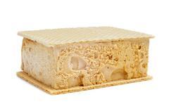 Typical spanish helado al corte or corte de helado, ice cream sandwich with w Stock Photos