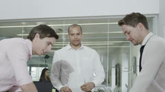 Attractive and stylish young business team meeting Stock Footage