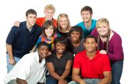 Stock Photo of group of multi-racial college students