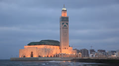 Great Mosque in Casablanca, Morocco Stock Footage