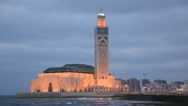 Stock Video Footage of Great Mosque in Casablanca, Morocco
