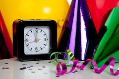 new years eve decorations - stock photo