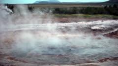 Geysir Iceland Stock Footage