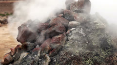 Hot springs in Iceland Haukadalur Stock Footage