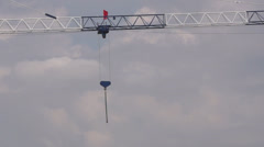 Boom of building crane Stock Footage