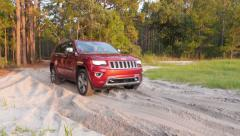 Jeep Off-road in Forest 60fps Stock Footage