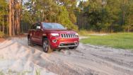 Stock Video Footage of Jeep Off-road in Forest 60fps
