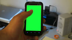 Phone touch green screen Stock Footage