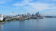 Seattle Panning Timelapse - stock footage