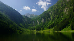 Bodensee in Austrian Alps - stock footage