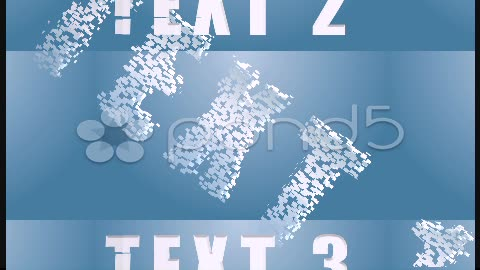 After Effects Project - Pond5 The text is assembled from pieces 25797891