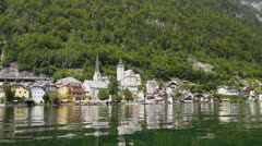 Hallstatt village in Austria Stock Footage