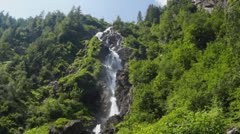 Waterfall in Austrian Alps Stock Footage