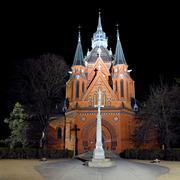 church in postorna - part of town breclav in south moravia in czech republic. - stock photo