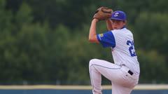 Baseball pitcher slowmo - stock footage