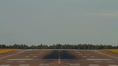 Empty runway, heat haze, mirage Stock Footage