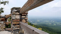 View from Pilot Mountain - stock footage