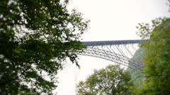New River Gorge Bridge Stock Footage