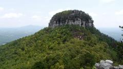 Stock Video Footage of Pilot Mountain North Carolina