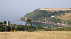 Talland Bay between Looe and Polperro Cornwall England Stock Footage