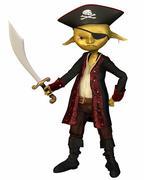 Goblin Pirate Captain Stock Illustration
