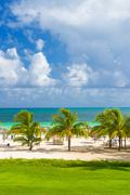 Tropical resort at the beach of coco key in cuba Stock Photos